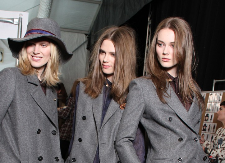 Backstage at Tommy Hilfiger RTW Fall 2011