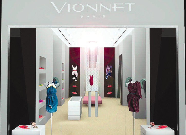 A rendering of the Vionnet boutique.