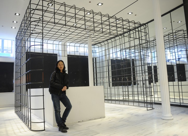 Alexander Wang inside the new space.