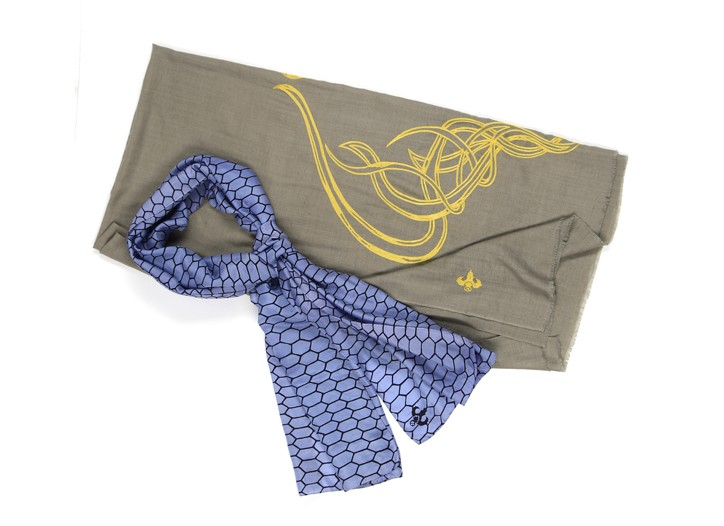 Scarves from the House of Waris.