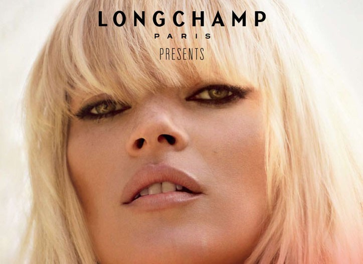 "The poster for Longchamp's ""Faraway"" digital movie, featuring Kate Moss."
