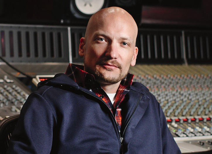 Mikkel Eriksen at Roc the Mic studios in New York.