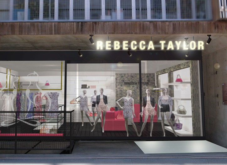 The Rebecca Taylor store in Harujuku.