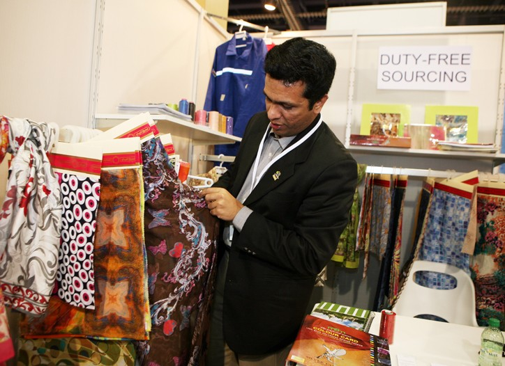 After gaining duty free status with the U.S., some mills from Oman exhibited at Sourcing at MAGIC for the first time.