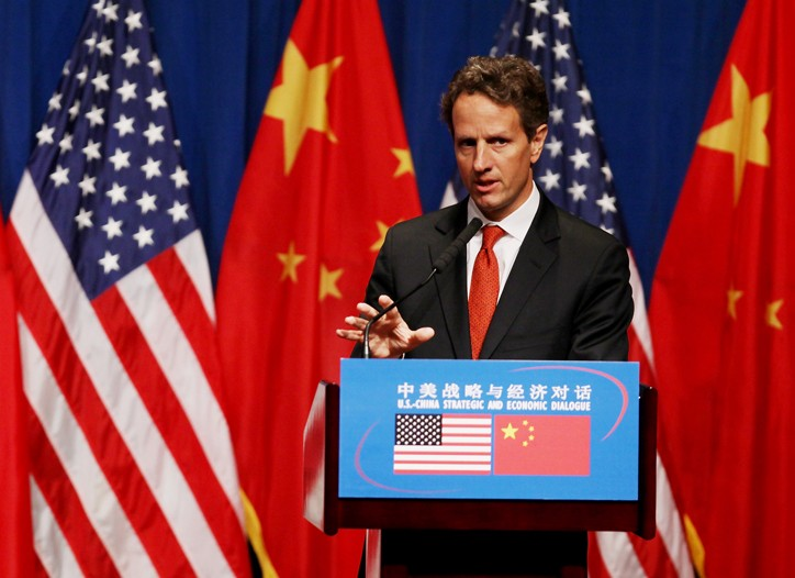 Timothy Geithner in Beijing.