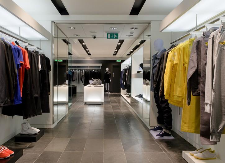 Inside the Y-3 store in London.