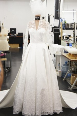 ABS by Allen Schwartz wedding gown, inspired by Princess Catherine.