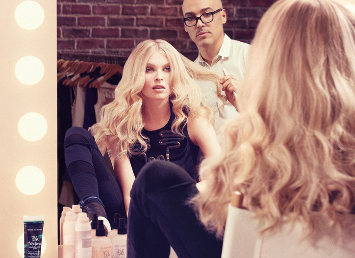 A Bumble and bumble ad image featuring hairstylist Jimmy Paul.