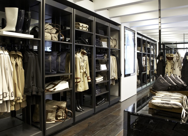 Inside the new Burberry store.