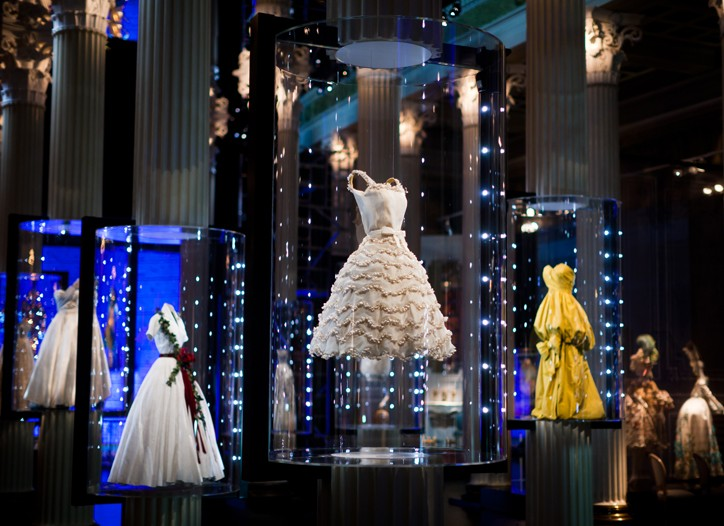 """A view of """"Inspiration Dior"""" at the Pushkin Museum."""