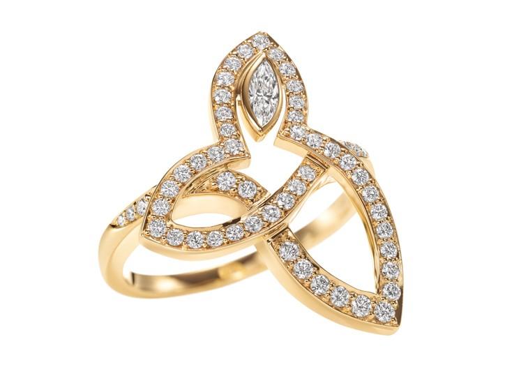 Harry Winston's diamond and gold ring.
