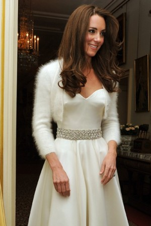 Catherine, Duchess of Cambridge leaves Clarence House to travel to Buckingham Palace for the evening celebrations.