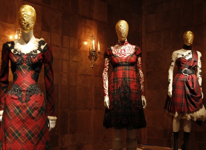 """A view of the Costume Institute's """"Alexander McQueen: Savage Beauty"""" exhibit."""