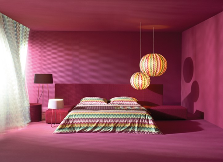 Bed linens from Missoni.