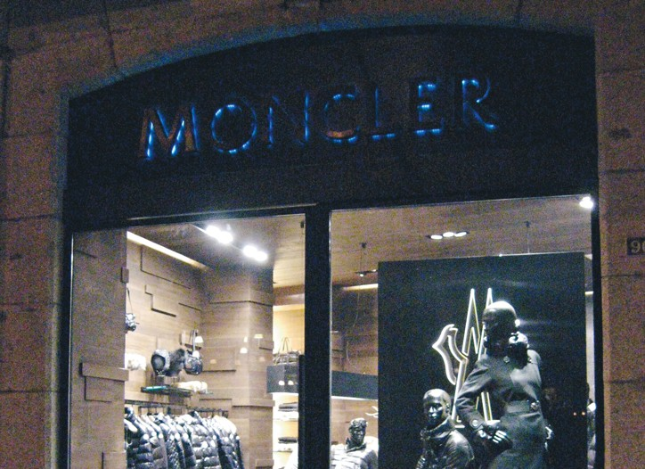 Moncler store.