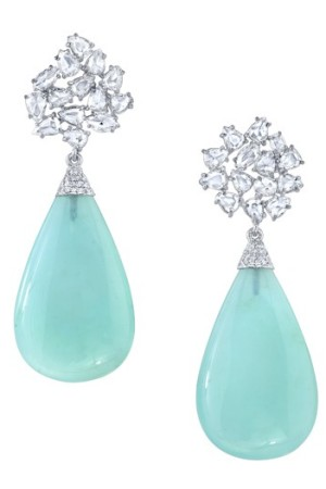 Earrings from Irene Neuwirth's diamond collection