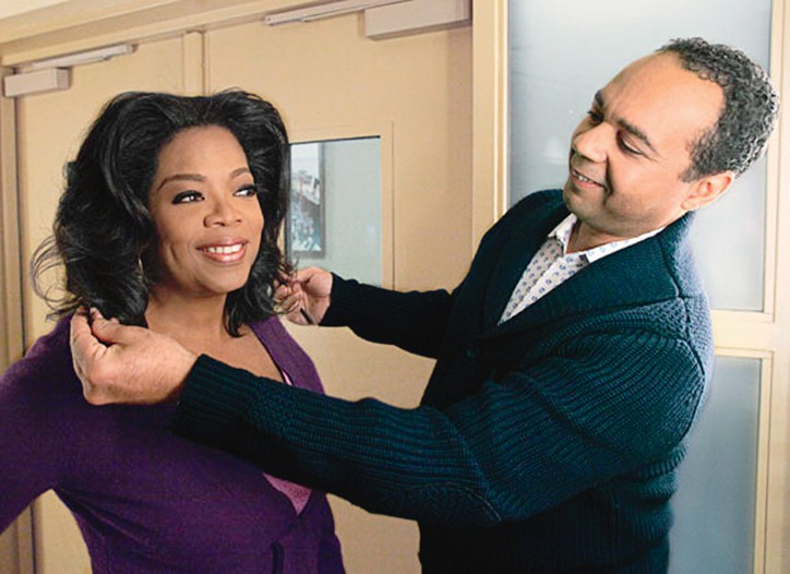 Andre Walker with his star client, Oprah Winfrey.