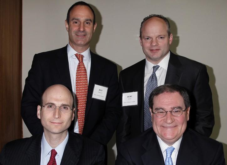 Clockwise from top left: Jeffrey Hornstein, Durc Savini, Kenneth Berliner and Jeffrey Derman.