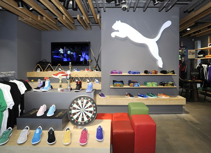 A view of the Puma store in Paris.