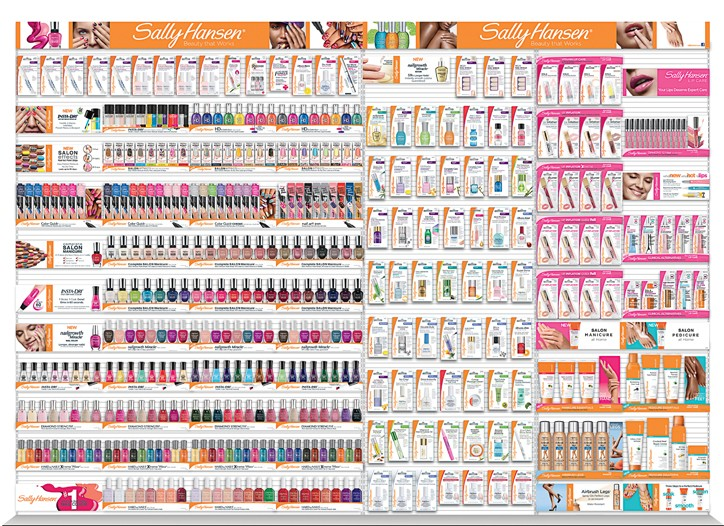 Sally Hansen worked with various design companies, including Wallace Church and Smart Design, to reimagine its wall and product packaging.