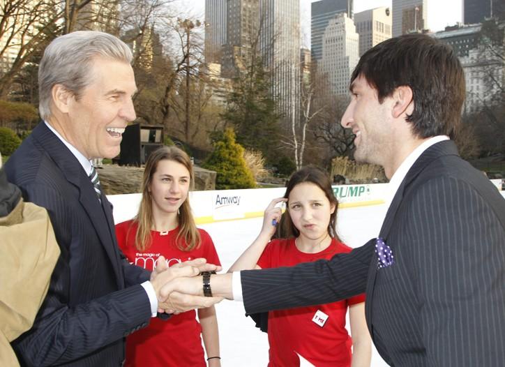 Terry Lundgren with Olympic skater Evan Lysacek.
