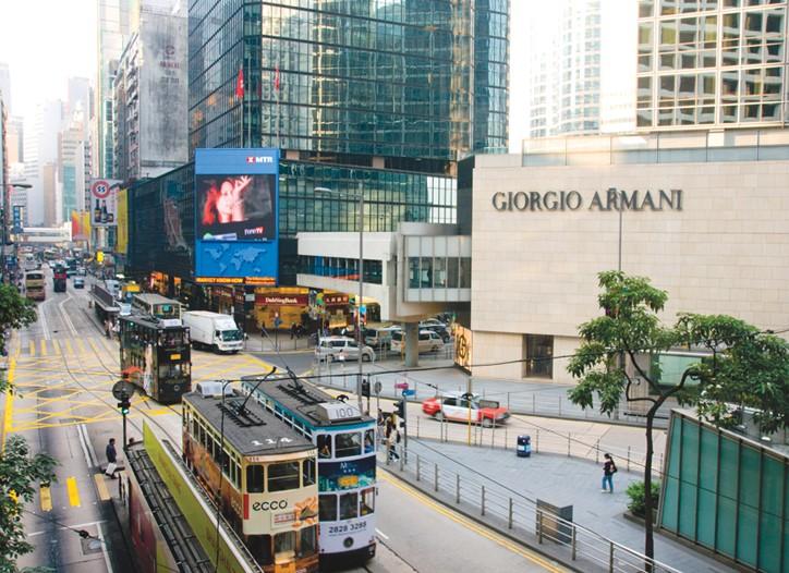 A Giorgio Armani in Hong Kong. Sales in China increased 36 percent.