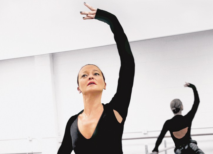 Ingrid Jackel during a ballet class at the Academy of Music and Dance in Pasadena, Calif..