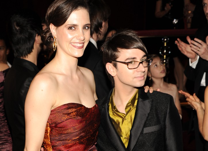 Leslie Ziff and Christian Siriano