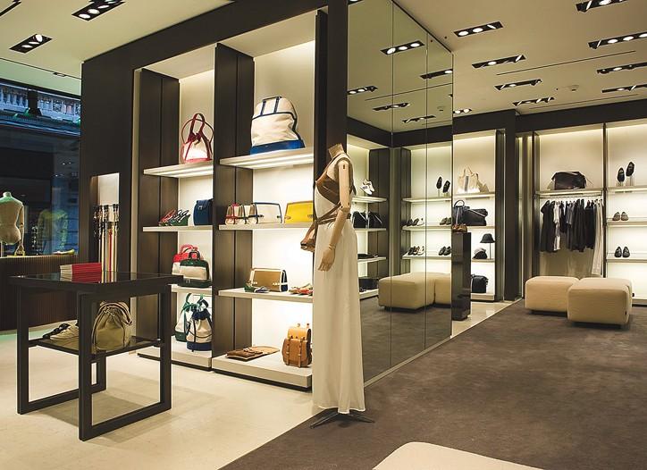 Inside Bally's Lugano, Switzerland, store.