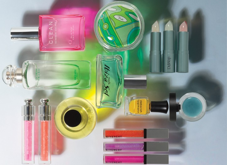 Beauty companies are combining transparency with bright colors in their summer launches.