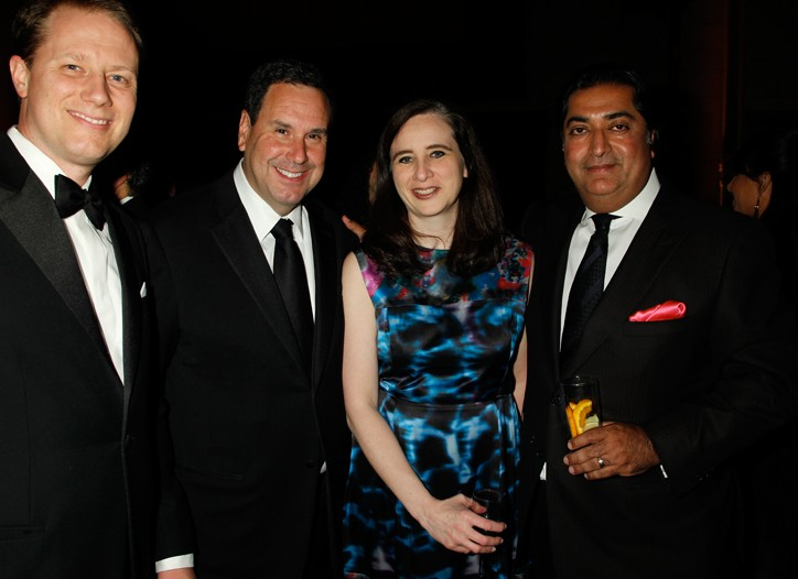 Andy Piper, Steve Sadove, Kimberly Grabel and Haresh Tharani.