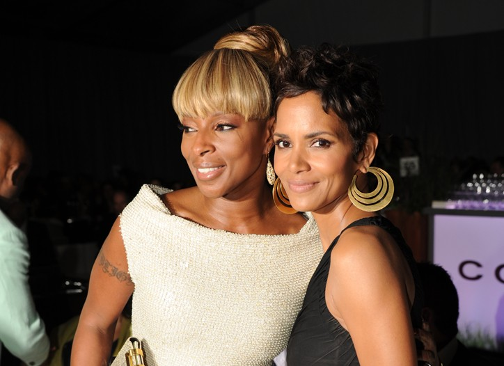Mary J. Blige and Halle Berry