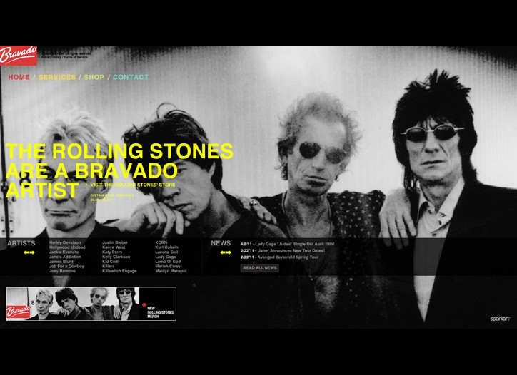 The Rolling Stones are part of Bravado's new music-fashion partnership.