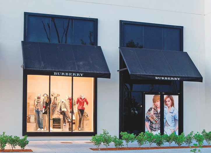 Burberry will have doubled its retail square footage in London by 2012.