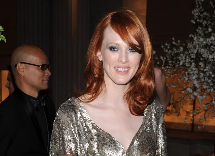 Karen Elson in Alexander McQueen
