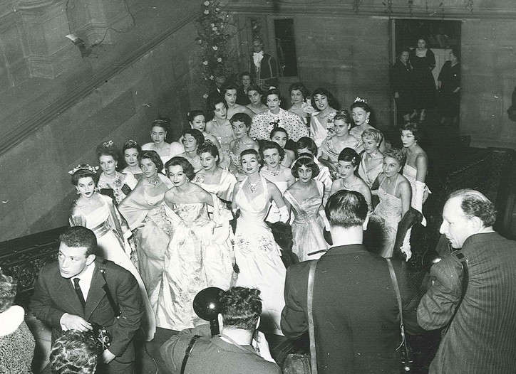 Haute Couture event, given in the Comédie Française in 1957.