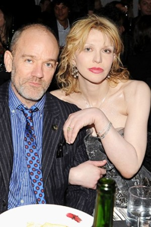 Michael Stipe and Courtney Love