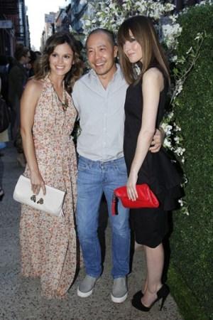 Rachel Bilson, Derek Lam and Rose Byrne.