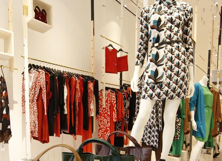 Inside Diane Von Furstenberg's SoHo store.