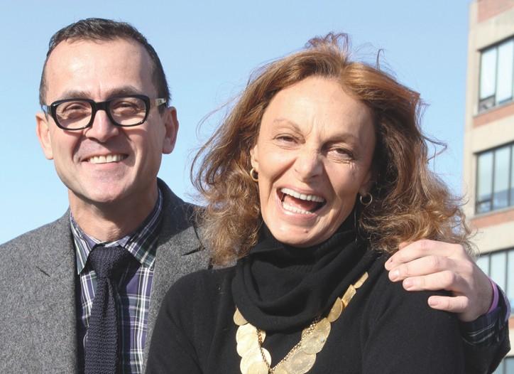 Steven Kolb and Diane von Furstenberg