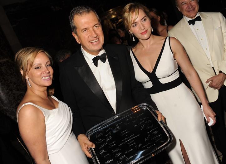 Yaz Hernandez, Mario Testino and Kate Winslet