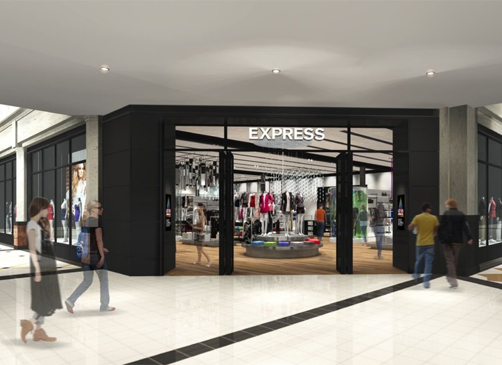 A rendering of the Express store.
