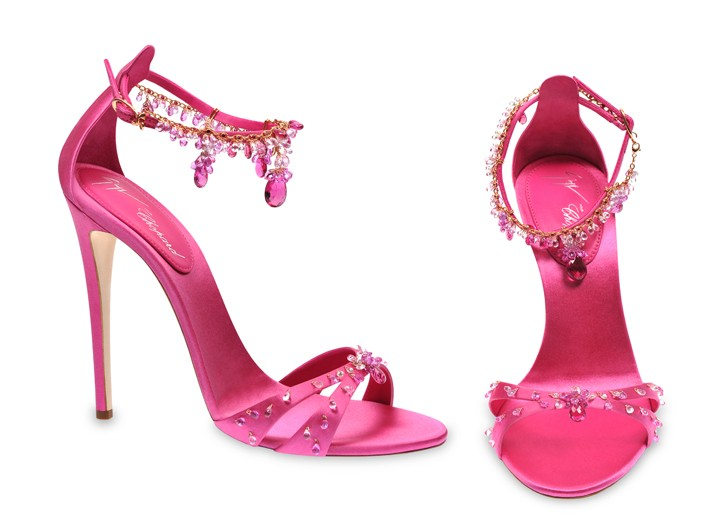 Chopard and Giuseppe Zanotti's Jewel-encrusted stiletto sandals.