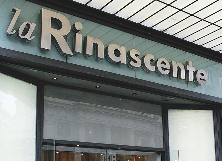 La Rinascente department store in Rome.