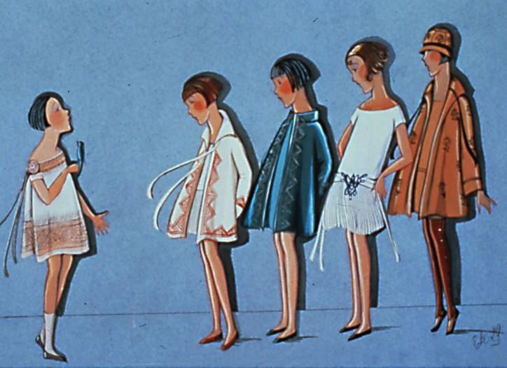 A sketch by Jeanne Lanvin from 1929.