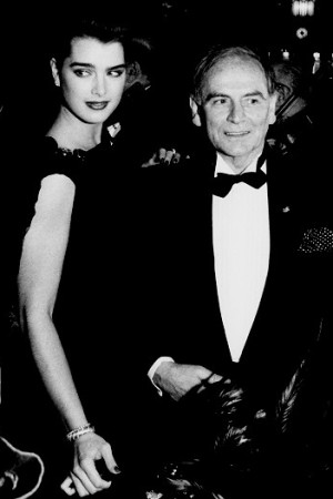 Brooke Shields and Pierre Cardin at Maxim's