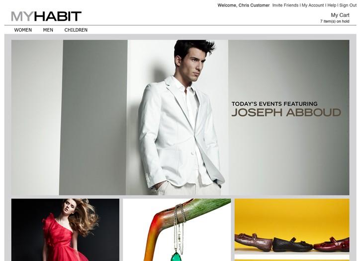 Amazon's Myhabit flash-sale site.