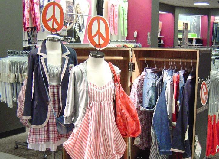 An Olsenboye display at J.C. Penney's.