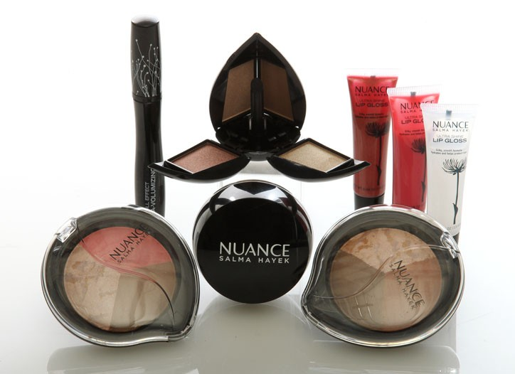 Salma Hayek's new beauty line, Nuance Salma Hayek, was inspired by the Mexican beauty's cosmetologist grandmother.
