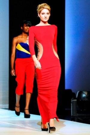 Anfisa Sokolova's best of show red dress.